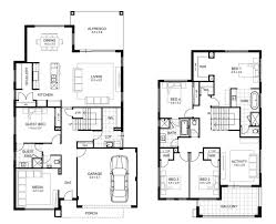 beautiful 5 bedroom double storey house plans new home plans design