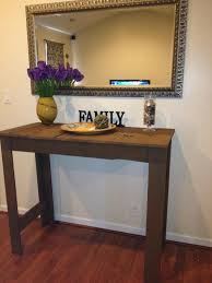 Entryway Accent Table Small Entryway Table Distressed Wooden End Table Perfect For
