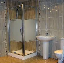 bahtroom attractive shower space and nice glass door model beside