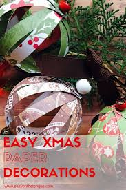 how to make easy christmas paper ball decorations ball
