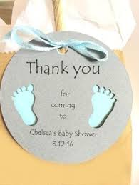lil baby shower decorations baby footprints baby shower tags set of 12 baby shower favors