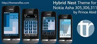 themes nokia asha 308 download hybrid nest theme for nokia asha 305 asha 306 asha 308 asha 311