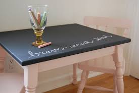 how to creatively use chalkboard paint around the house how to use chalkboard paint to make a table stand out