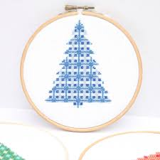 modern christmas tree cross stitch patterns u2013 do small things with
