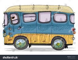 volkswagen van cartoon vintage bus cartoon stock vector 147339473 shutterstock