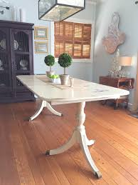 Painted Dining Table by Duncan Phyfe Dining Table Painted With Annie Sloan Chalk Paint