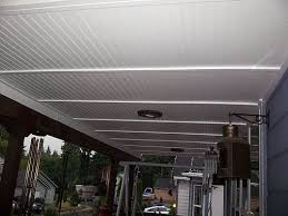 how can i finish my back porch ceiling in an inexpensive way