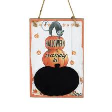 happy halloween tin sign american halloween decorations in the