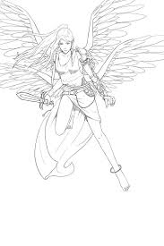 428 best lineart angels images on pinterest coloring pages
