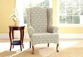 sure fit slipcovers wing chair wingback chair slipcovers sure fit slipcover fancy sure fit wing