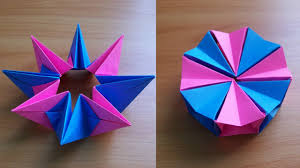 diy how to fold an easy origami magic circle fireworks fun paper