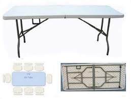 4 foot fold in half table plastic 6ft folding table