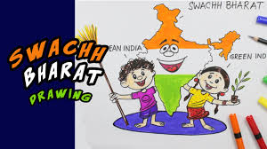 swachh bharat drawing step by step for kids youtube