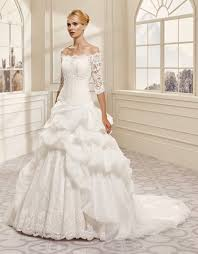 off the shoulder ball gown wedding dresses with ruffles wedding