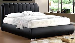 Faux Leather Bed Frames Leather Headboard Bed Grace Black Padded Faux Leather Bed