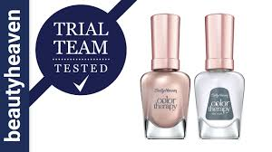 trial team tested sally hansen color therapy nail polish and top