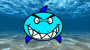 sea animal color shark for children coloring page kindergarten