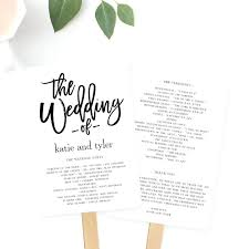 wedding program fan templates free template folded wedding program template programs fan or flat