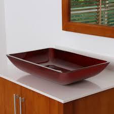 7002 elite illusion burgundy design tempered glass bathroom vessel