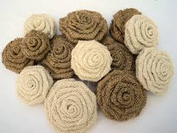 set of 10 burlap flowers assorted sizes 10 burlap roses