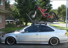 honda accord coupe bike rack 2000 honda civic 2 door roof rack bike racks yakima q towers