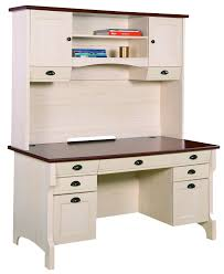 deluxe wood desk with hutch in white office desks wke dw48d30 dhwh