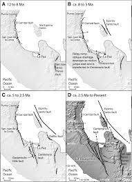 Map Of La Paz Mexico by Geometry And Evolution Of Rift Margin Normal Fault U2013bounded Basins