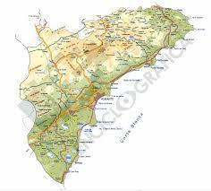 Valencia Spain Map by Valencia Community Archives Estudio De Sitographics