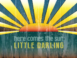 the beatles here comes the sun little darling distressed