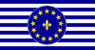 Blue And White Flag With Red C Vexillology For All You Flag Lovers Out There