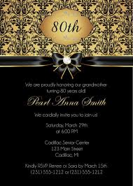 birthday invites surprising black and gold birthday invitations