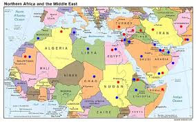Picture Of A World Map by This Is A Strategic Map Of The Middle East And North Africa 2010