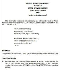 service contract in word contract template for services musicax