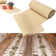 natural burlap table runner 30x275cm burlap table runner cloth wedding decoration natural jute