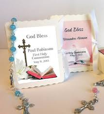 communion favors ideas communion mini rosary favors box