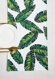 Leaf Table Runner Leaf The Fest To Me Table Runner Palm Printed Pieces For Home