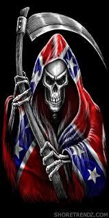 Southern Rebel Flag Rebel Flag Beach Towel Grim Reaper With Scythe Confederate