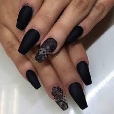Nail Art Design Black 50 Coffin Nail Art Designs Nenuno Creative