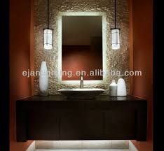 Hotel Bathroom Mirrors by Mirror Design Ideas Wall Mounted Backlit Bathroom Mirrors