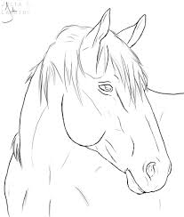horse line drawing horse lineart by lambidy digital art drawings