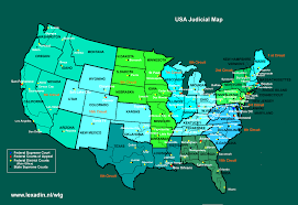 federal circuit court map courts and cases usa lexadin