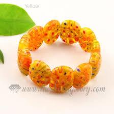 murano glass bangle bracelet images Stretch millefiori lampwork murano glass beads bracelets jewelry jpg