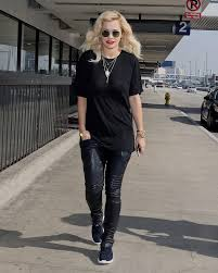 biker pants rita ora in balmain skinny biker leather pants in black