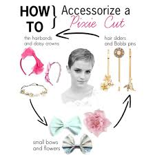 accessorize hair how to accessorize a pixie cut polyvore