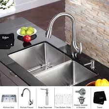 undermount kitchen sink with faucet holes stainless steel kitchen sink combination kraususa