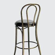 Bar Stools Tabouret Bistro Wood Seat Gunmetal Finish Bar Stools