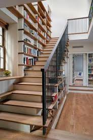stair step bookcase stairs books shelves wood contemporary