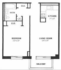 impressive 2 one bedroom floor plans one bedroom floor plan home