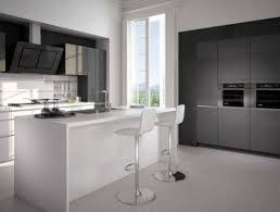 cuisine blanc et noir salon deco noir et blanc top with cuisine gris newsindo co