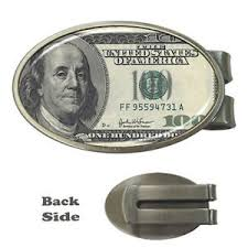 usd 100 dollar bill one hundred dollar clip card holder